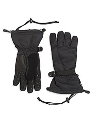 Spyder Leather Trim Nylon Gloves Charcoal