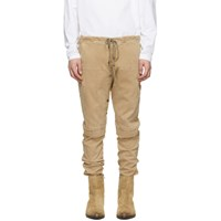 Greg Lauren Beige Work Cargo Pants