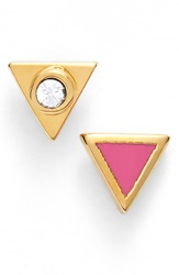 Marc By Marc Jacobs 'Lost And Found' Mismatched Stud Earrings Fuschia Purple