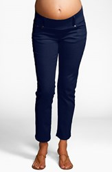 Women's Maternal America Maternity Skinny Ankle Stretch Jeans Navy