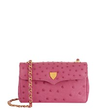 Lana Marks Small Ostrich Chain Bag Female Pink