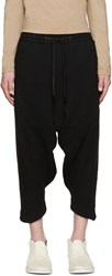 D.Gnak By Kang.D Black Cropped Sarouel Trousers