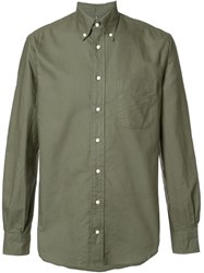 Gitman Brothers Vintage Button Down Collar Shirt Green