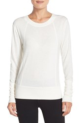 Alo Yoga Women's Alo 'Flux' Cross Back Long Sleeve Top Natural