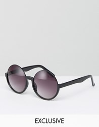 Monki Round Sunglasses Black