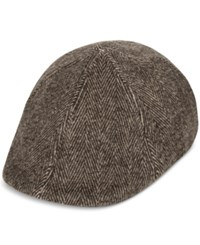 Levi's Men's Herringbone Flat Top Cap Brown