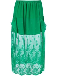 Stella Mccartney Dual Panel Lace Skirt Green