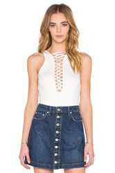 Bardot Kara Lace Up Bodysuit Ivory