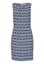Betty And Co. Printed Shift Dress Blue
