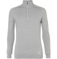 Kjus Golf Kulm Wool Half Zip Sweater Gray