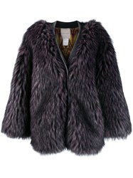 Marco De Vincenzo Faux Fur Coat Pink
