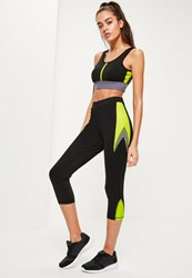 Missguided Active Black Multi Panel Gym Leggings