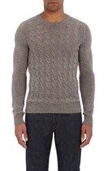 Zanone Men's Cable Knit Sweater Grey