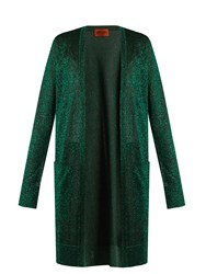 Missoni Long Sleeved Patch Pocket Cardigan Green