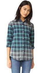 Sundry Oversized Distressed Shirt Jade