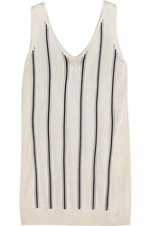 Lanvin Striped Stretch Knit Tank Ivory