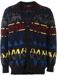 Sibling 'Basquiat' Fair Isle Cardigan Multicolour