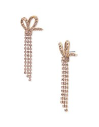 Jenny Packham Half Bow Stone Drop Earrings Gold