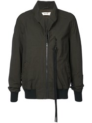 Damir Doma Raw Collar Bomber Jacket Green