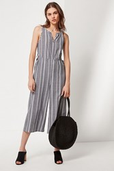 Lucca Couture Kendall Striped Jumpsuit Blue