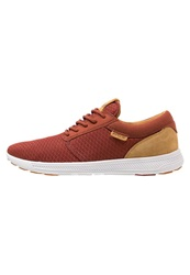 Supra Hammer Run Trainers Burnt Henna Wood Thrush White Dark Red