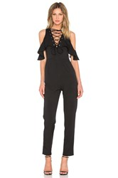 Lavish Alice Lace Up Jumpsuit Black
