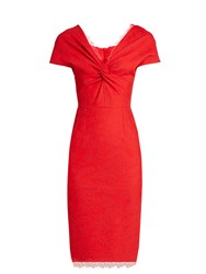 Emilio De La Morena Tamara Off The Shoulder Dress Red