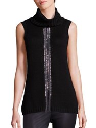 Ramy Brook Leah Embellished Merino Wool Sweater Black