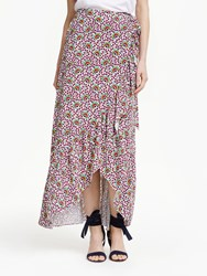 Boden Florence Drape Maxi Skirt Ivory Rouge Bloom