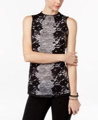 Inc International Concepts Lace Top Only At Macy's Deep Black