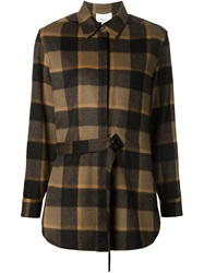 3.1 Phillip Lim Adjustable Plaid Shirt Brown