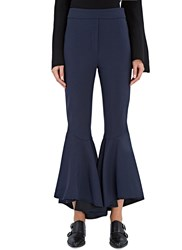 Ellery Sinuous Cropped Flare Pants Navy