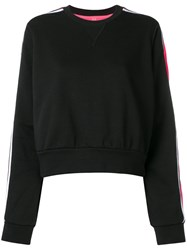No Ka' Oi Stripe Sleeve Sweatshirt Black