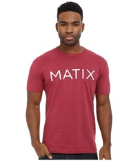 Matix Clothing Company Monoset T Shirt Cardinal Men's T Shirt Red