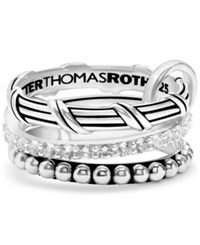 Peter Thomas Roth 3 Pc. Set White Topaz Connected Stacking Rings 1 1 4 Ct. T.W. In Sterling Silver