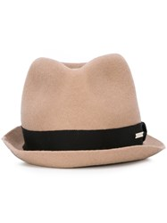 Dsquared2 Trilby Hat Nude And Neutrals