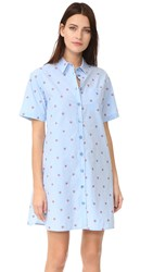 Boutique Moschino Button Down Dress Fantasy Print Light Blue