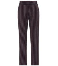 See By Chloe Striped Cropped Pants Blue