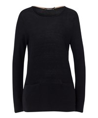 Olsen Patch Pocket Jumper Black