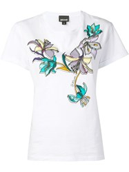 Just Cavalli Floral Print T Shirt White