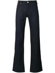 Armani Collezioni Regular Trousers Blue