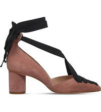 Kurt Geiger London Mayfair Suede Ribbon Courts Rust