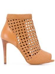 Michael Michael Kors Caged Ankle Boots Neutrals