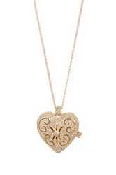 Nadri Heart Locket Pendant Necklace No Color