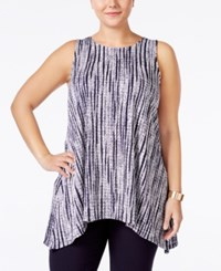 Alfani Plus Size Textured Knit Arched Hem Tunic Only At Macy's Textured Strokes