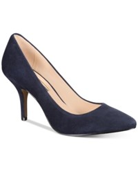 Inc International Concepts Womens Zitah Pointed Toe Pumps Only At Macy's Women's Shoes Storm Blue