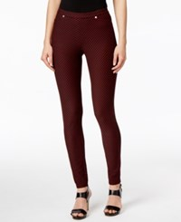 Michael Kors Petite Bungalow Polka Dot Leggings Black Red Blaze
