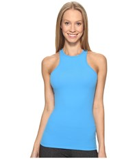 Beyond Yoga Under Lock And Keyhole Tank Top Tidal Blue Women's Sleeveless
