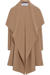 Harris Wharf London Draped Wool Felt Coat Camel
