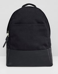Asos Design Large Canvas Backpack Black